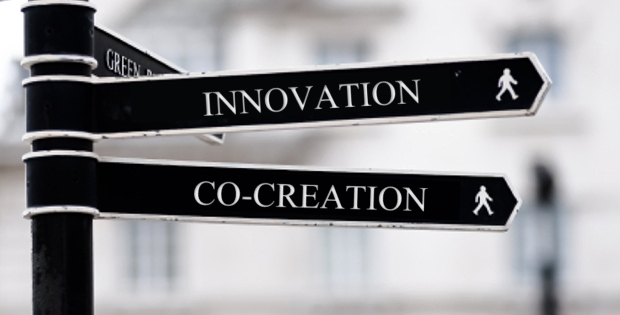 signs showing co-creation used as an innovation technique