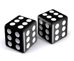 two dice with sixes on each side to represent design benefits