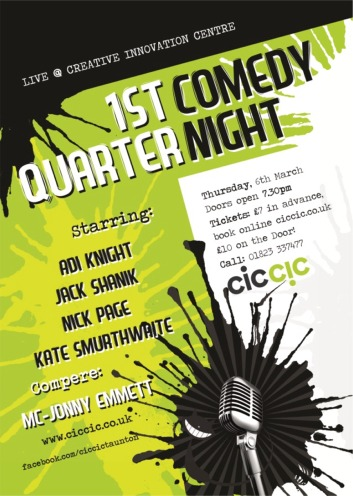 comedy nights and club taunton poster