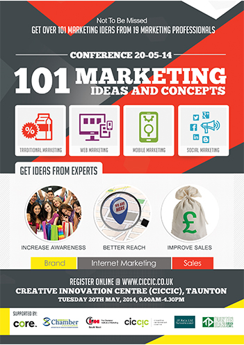 101 marketing ideas and concepts flyer