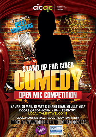 stand-up comedy night at ciccic taunton