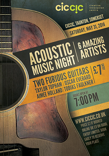 acoustic music night may 31st flyer