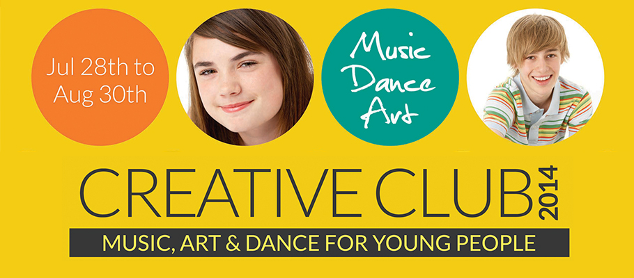 creative club summer school for 14-16 year olds