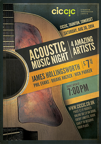 acoustic music night gig in Taunton