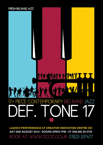 def tone 17 contemporary big band jazz poster