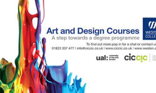 Art & Design Diploma Open Day at CICCIC Sat 13th Sept 9.30 – 1pm