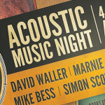 Acoustic Music Night Sat 27th Sept – 4 Amazing Songwriters/Musicians