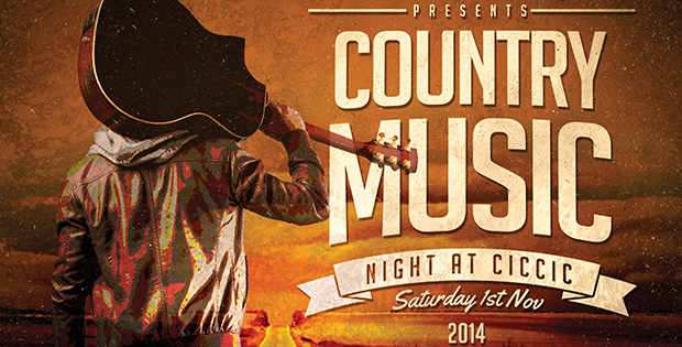 country music night flyer small