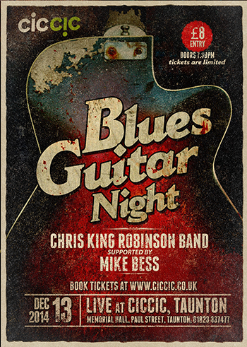 blues guitar night poster at ciccic