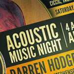 Acoustic Music Night Sat 29th November