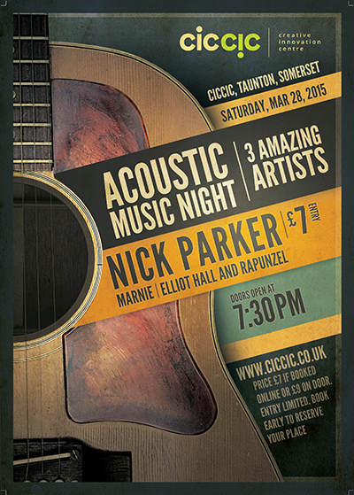 acoustic music and guitar night
