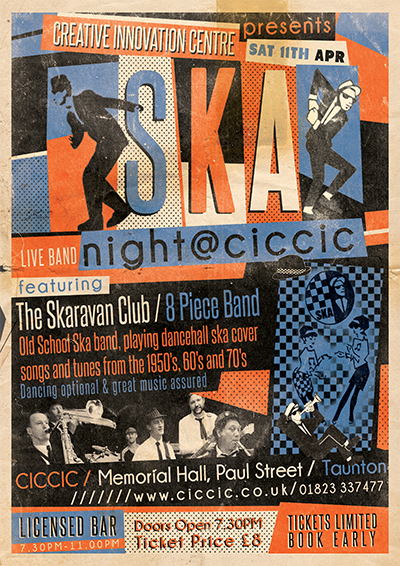 ska music night flyer