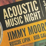 Acoustic Music Night Sat 28th Feb – 3 Amazing Artists