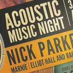 Acoustic Music Night Sat March 28th – 3 Amazing Singer/Songwriters & Musicians