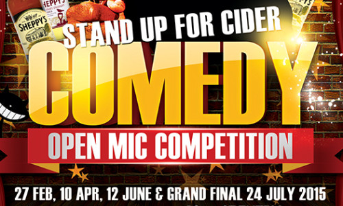 'Stand Up For Cider' Open Mic Comedy Competition & Audience Tickets
