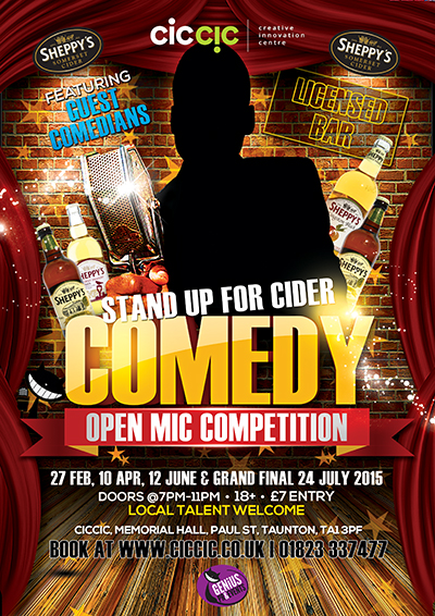 comedy night at ciccic with sheppys cider