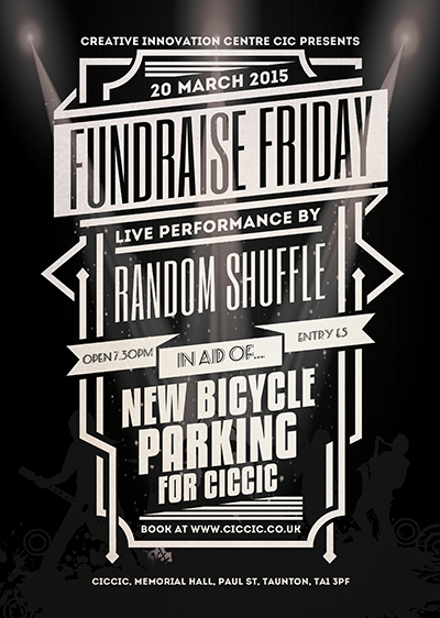 live music poster for fundraise friday