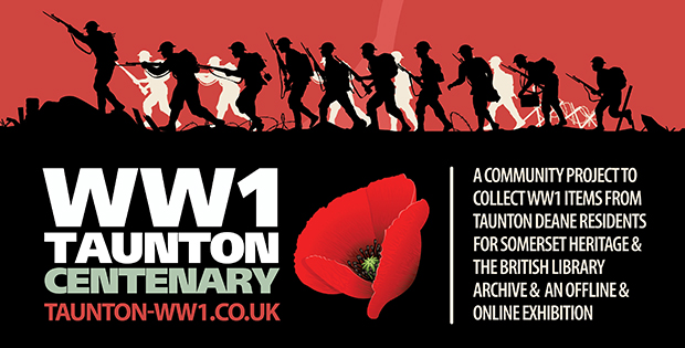 WW1 centenary project banner taunton deane