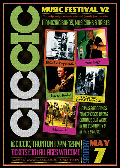 ciccic music festival v2 Taunton poster