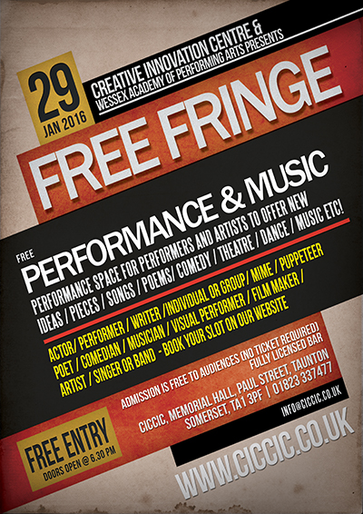 FREE FRINGE FRIDAY