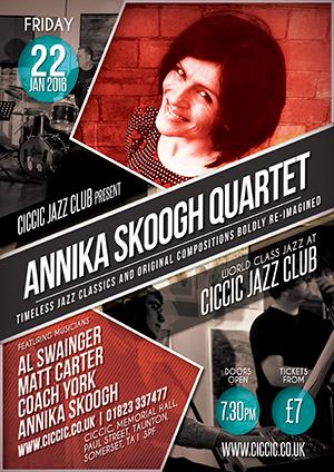 annika skoogh quartet at CICCIC jazz club