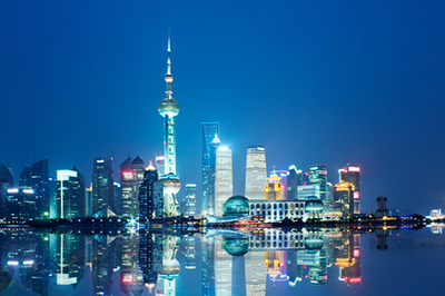 Skyline of Shanghai City, China