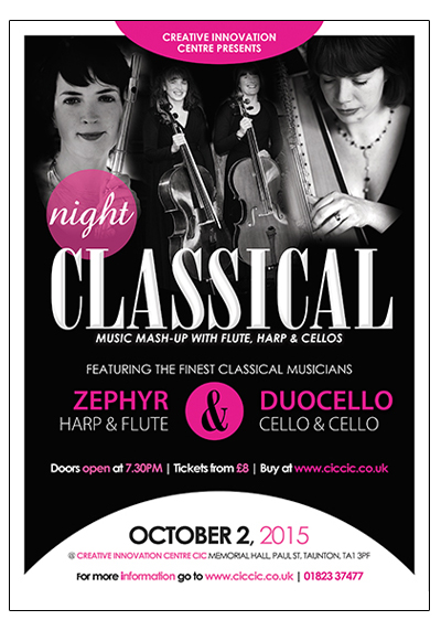classical music mashup at ciccic taunton poster