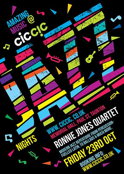 ronnie jones quartet jazz poster