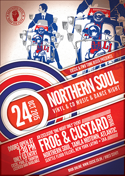 northern soul night at ciccic taunton poster