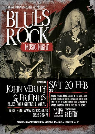 john verity blues guitarist and rock ciccic taunton