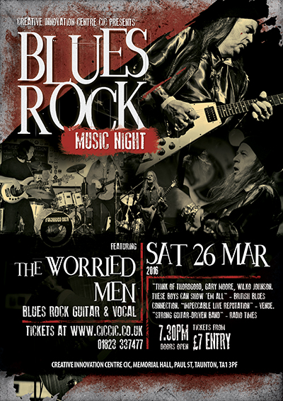 blues rock night with the worried men