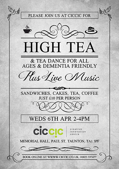 High tea and tea dance at ciccic dementia friendly art cafe