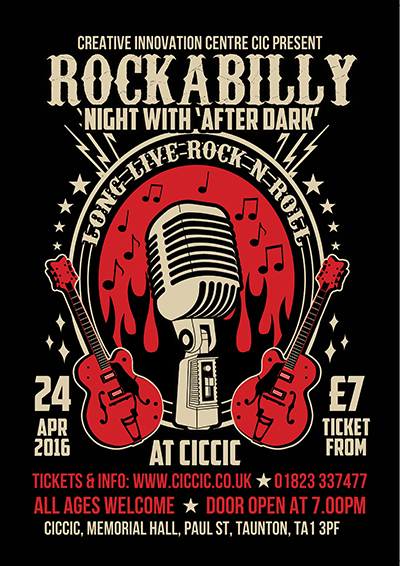 rockabilly music night at ciccic taunton poster