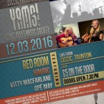 Young Adult Music Society (YAMS) This Saturday 12th March at the CICCIC