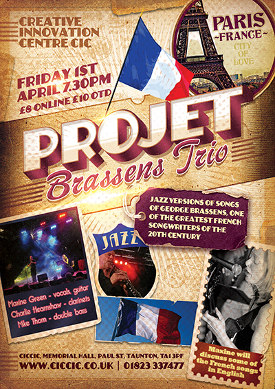 Projet Brassens jazz french music poster