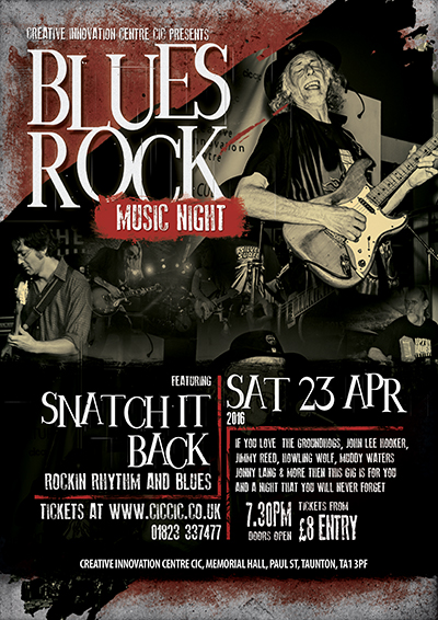 snatch it back blues rock music night at ciccic blues club taunton