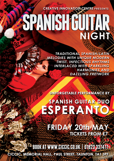 Spanish Guitar Night at CICCIC Taunton poster