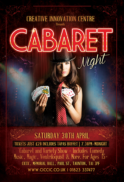 Cabaret Night - A Quality Night with Special Acts, Comedy & Music