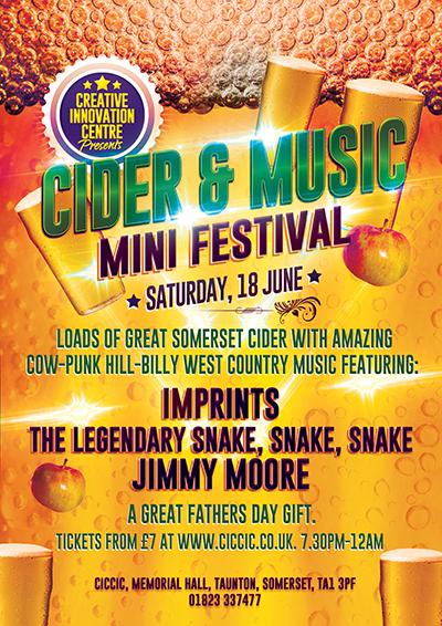 CICCIC Cider & Music Festival Taunton Poster