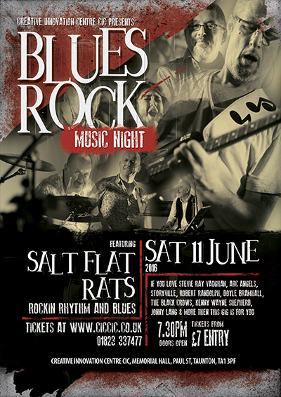 salt flat rats blues band poster