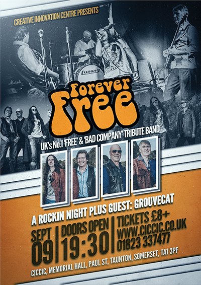 forever free tribute band poster