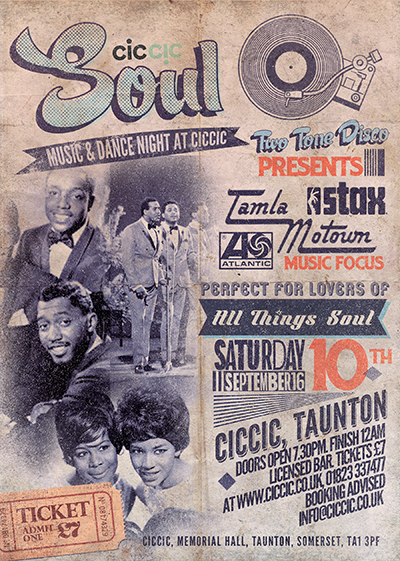 soul music and dance night poster