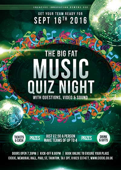MUSIC QUIZ AT CICCIC TAUNTON