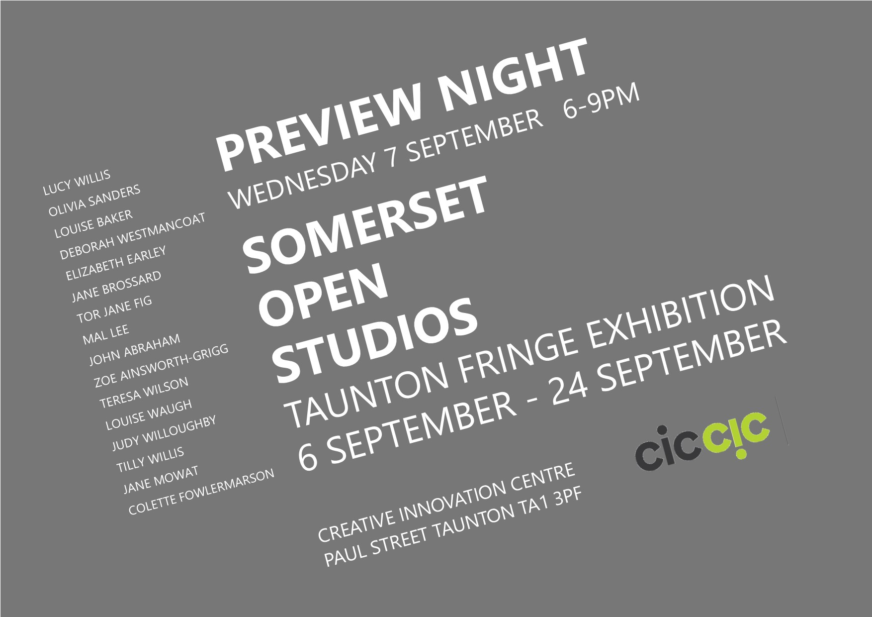 SAW Taunton Fringe Exhibition PV INVITE