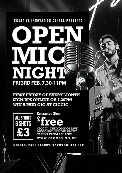 OPEN MIC NIGHT CICCIC TAUNTON