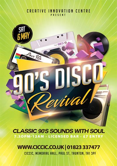 ciccic 90s disco taunton poster