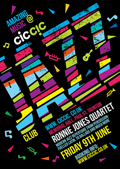 ciccic jazz club poster with ronnie jones quartet