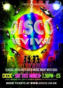 70's & 80's Disco Revival – Saturday 31st Mar 2018 – Creative