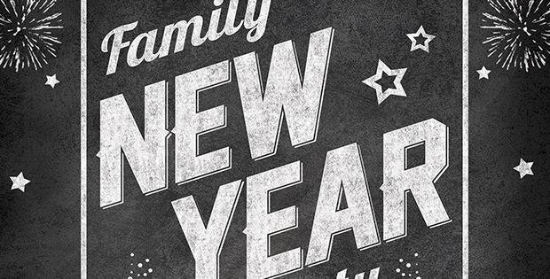family new year celebration night dec 31st