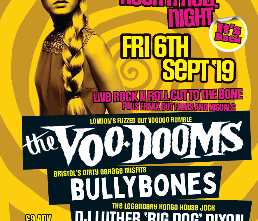 Club Kongo – The Voo-Dooms – Friday 6th September 2019